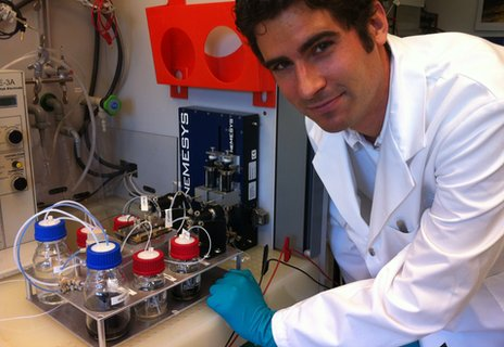 Is liquid fuel the key to zettascale computing? Dr Patrick Ruch with IBM's test kit